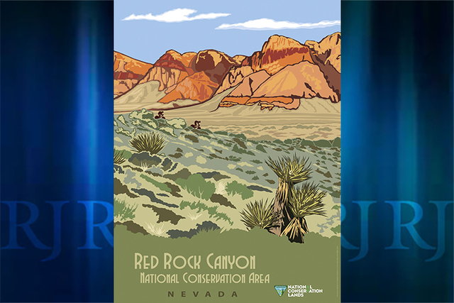 A limited edition commemorative poster depicting Red Rock Canyon National Conservation is available at the visitor center. (Bureau of Land Management)