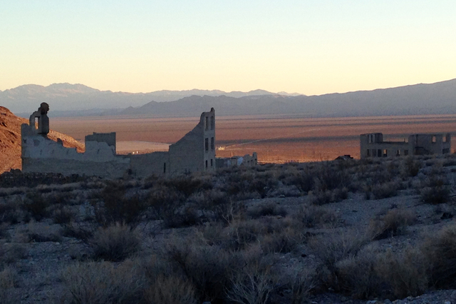 Its abandoned buildings and rocky landscape make Rhyolite one of the Southwest's most photogenic ghost towns. (John Marshall/The Associated Press)