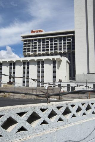 The shuttered Riviera is seen on the Las Vegas Strip on Tuesday, March 29, 2016. (Daniel Clark/Las Vegas Review-Journal Follow @DanJClarkPhoto)