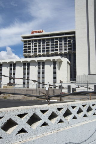 The shuttered Riviera hotel-casino is seen on the Las Vegas Strip on Tuesday, March 29, 2016. The casino, once demolished, will make way for an expansion of the Las Vegas Convention Center. Daniel ...
