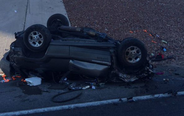 Woman dies in fatal rollover crash on I-15 exit ramp in Las