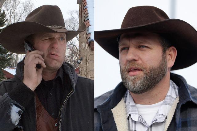 Ryan Bundy, left, and Ammon Bundy. (AP Photos/File)