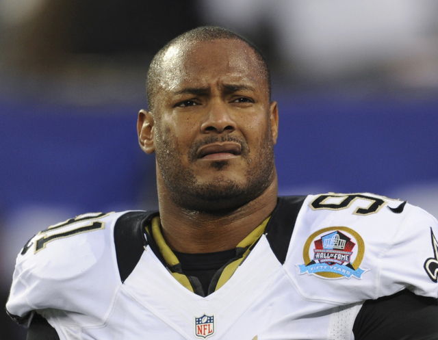New Orleans Saints defensive end Will Smith appears before a game against the New York Giants in East Rutherford, N.J., in 2012. (Bill Kostroun/The Associated Press)