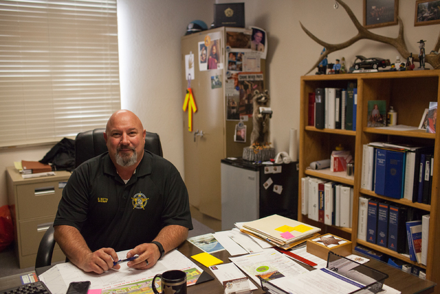 Dan Watts, sheriff and coroner, poses in his office at the White Pine County Sheriffճ Office in Ely, Nev. on Thursday March 3, 2016. Randi Lynn Beach/Las Vegas Review-Journal