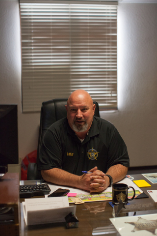 Dan Watts, sheriff and coroner, talks to a reporter in his office at the White Pine County Sheriffճ Office in Ely, Nev. on Thursday March 3, 2016.  (Randi Lynn Beach/Las Vegas Review-Journal)