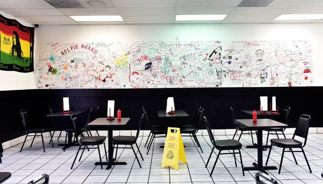 A general view of some of the detail at Tony Marc's Eats restaurant at 6700 W. Charleston Blvd Tuesday, April 19, 2016, in Las Vegas. David Becker/Las Vegas Review-Journal Follow @davidjaybecker
