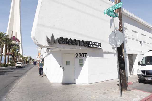 "Essence Cannabis Dispensary at 3207 Las Vegas Blvd. South is seen before a walking tour of various medical marijuana dispensaries in Las Vegas' ""Green District"" Wednesday, April 20, 2016.  Jason O ..."