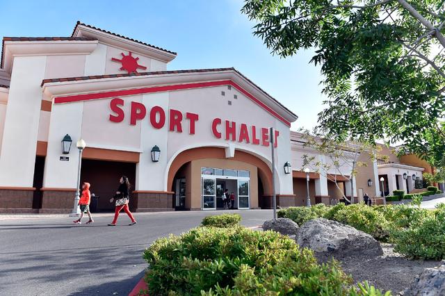 People walk by the Sport Chalet sporting goods store at 8825 W. Charleston Blvd. Friday, April 15, 2016, in Las Vegas. David Becker/Las Vegas Review-Journal Follow @davidjaybecker