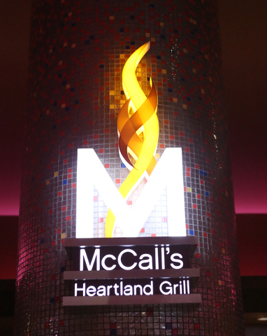 The newly renovated McCall's Heartland Grill's sign at Stratosphere hotel-casino is shown on Thursday, April 14, 2016. Bizuayehu Tesfaye/Las Vegas Review-Journal Follow @bizutesfaye