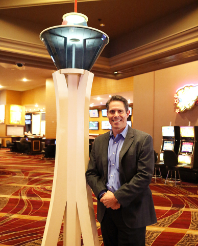 Ned Martin, CFO of American Casino & Entertainment Properties, poses for a photo at Stratosphere hotel-casino on Thursday, April 14, 2016. Bizuayehu Tesfaye/Las Vegas Review-Journal Follow @bi ...