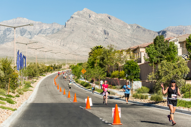 Participants hit the road for the 2015 Summerlin Half Marathon on April 12, 2015. This year's race is set for April 10, beginning and ending at Downtown Summerlin. View file photo