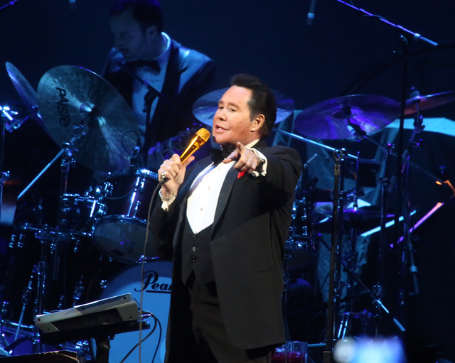 Wayne Newton sings a medley during opening night at T-Mobile Arena in Las Vegas on Wednesday, April 6, 2016. Jeff Scheid/Las Vegas Review-Journal Follow@jlscheid