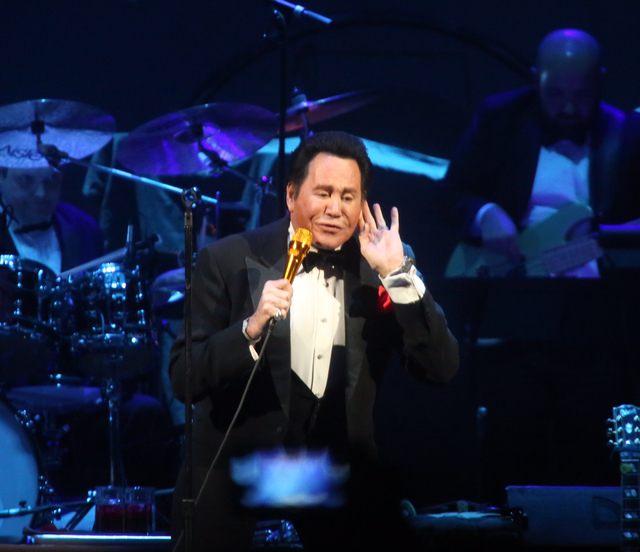 Wayne Newton performs at T-Mobile Arena on opening night in Las Vegas on Wednesday, April 6, 2016. Jeff Scheid/Las Vegas Review-Journal Follow@jlscheid