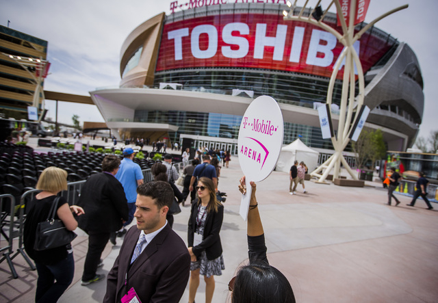 Members of media take a tour of T-Mobile Arena on Wednesday, April 6, 2016. Jeff Scheid/Las Vegas Review-Journal Follow @jlscheid