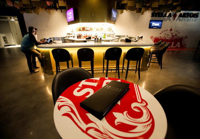The Stella Artois bar inside Hyde Lounge at T-Mobile Arena is seen on Wednesday, April 6, 2016. Jeff Scheid/Las Vegas Review-Journal Follow @jlscheid