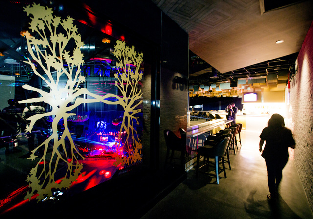 A woman walks in Hyde Lounge at T-Mobile Arena on Wednesday, April 6, 2016. Jeff Scheid/Las Vegas Review-Journal Follow @jlscheid