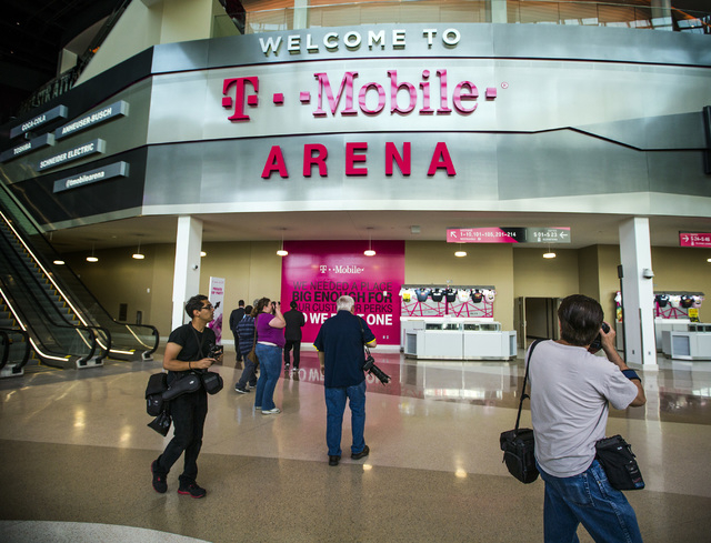 Members of the media tour T-Mobile Arena on Wednesday, April 6, 2016. Jeff Scheid/Las Vegas Review-Journal Follow @jlscheid