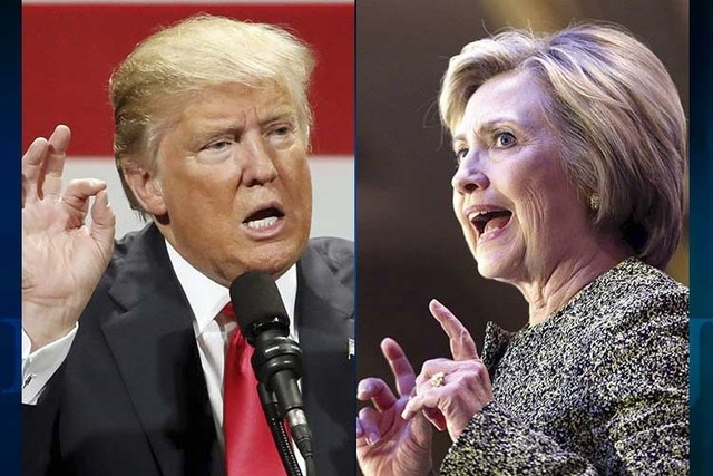 Donald Trump and Hillary Clinton (AP)