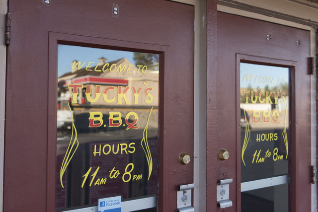 The entrance to Tucky's Smokin' BBQ at 308 N. Boulder Highway in Henderson is seen Friday, March 25, 2016. Jason Ogulnik/Las Vegas Review-Journal