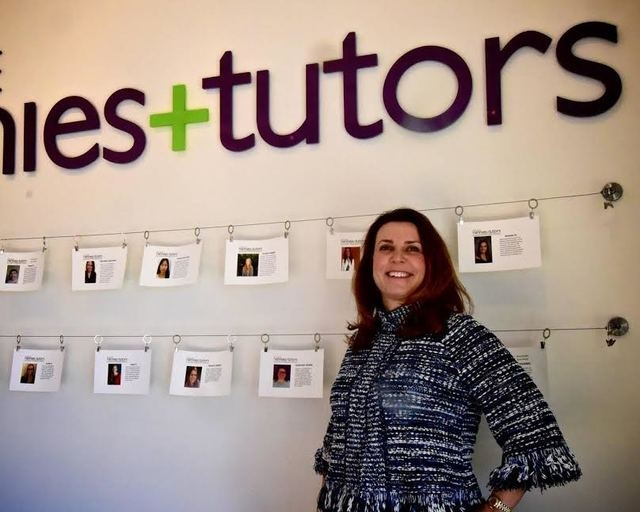 Kim Miramontes of College Nannies and Tutors pauses in her office Feb. 10. A franchisee, she is the first in Las Vegas to offer the service that matches college-age or college graduates with famil ...