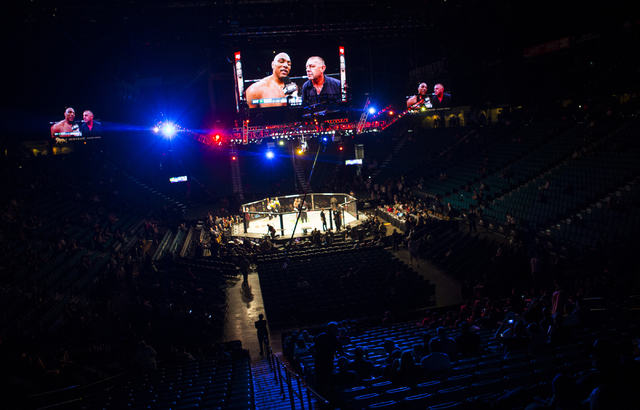 UFC 197 gets started at the MGM Grand Garden Arena in Las Vegas on Saturday, April 23, 2016. (Chase Stevens/Las Vegas Review-Journal) Follow @csstevensphoto