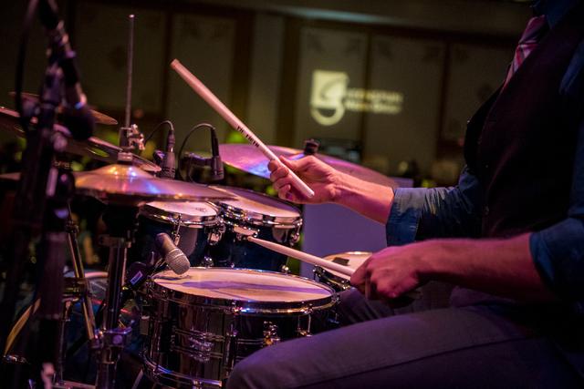 The Shaun DeGaff Band performs during the UNLVino fundraiser at the Paris hotel-casino in Las Vegas on Saturday, April 16, 2016. (Joshua Dahl/Las Vegas Review-Journal)