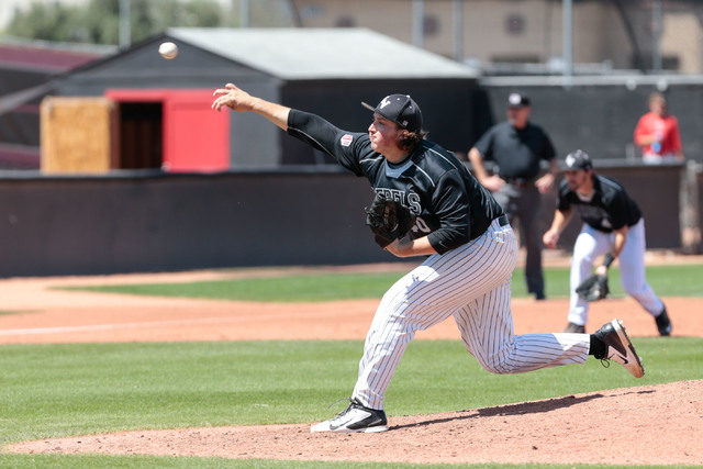 DONAVON LOCKETT/LAS VEGAS REVIEW-JOURNAL UNLV pitcher D.J. Myers, shown last season, shut out San Jose State on five hits and one walk and struck out five in seven innings Friday in the Rebels' 12 ...