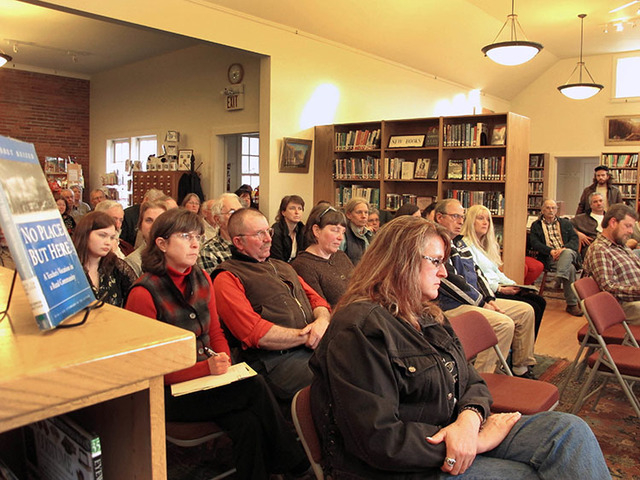 Concerned residents attend a March public meeting in Tunbridge, Vermont, on a Utah businessman's plans for a large-scale development based on the writings of Mormon leader Joseph Smith. (Lisa Rath ...