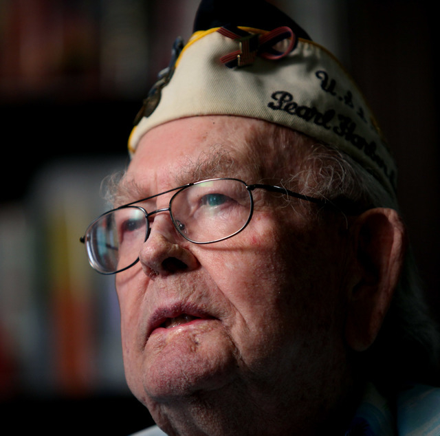 Clarendon Hetrick, shown on on Nov. 29, 2012, was a World War II veteran who was serving on the USS Arizona when Pearl Harbor was attacked in 1941. Hetrick died on Monday, April 18, 2016. (Jessica ...