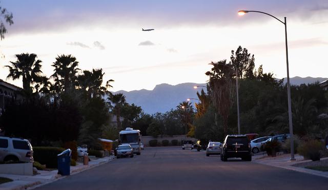 The 1000 block of Aspen Valley Avenue is seen Monday, April 25, 2016, in Las Vegas. (David Becker/Las Vegas Review-Journal Follow @davidjaybecker)