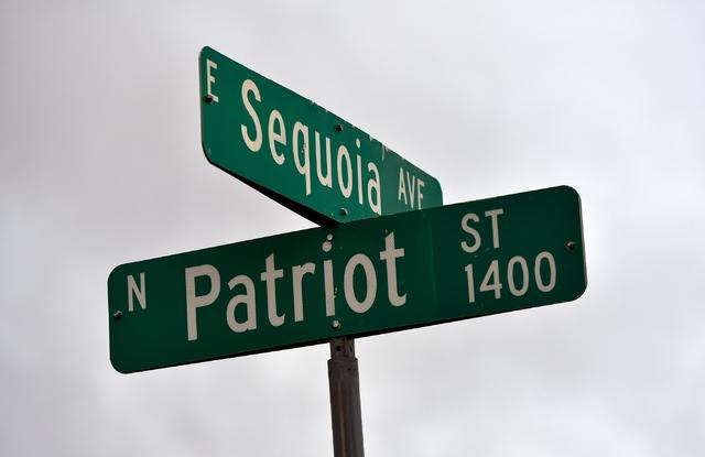 Patriot Street at Sequoia is seen Monday, April 25, 2016, in Las Vegas. (David Becker/Las Vegas Review-Journal Follow @davidjaybecker)