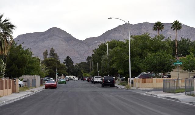 The 3600 block of Sequoia Avenue is seen Monday, April 25, 2016, in Las Vegas. David Becker/Las Vegas Review-Journal Follow @davidjaybecker