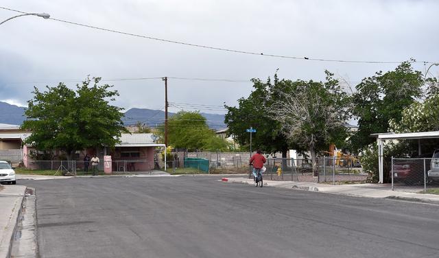 The 2400 block of Page Street is seen Monday, April 25, 2016, in North Las Vegas. (David Becker/Las Vegas Review-Journal Follow @davidjaybecker)
