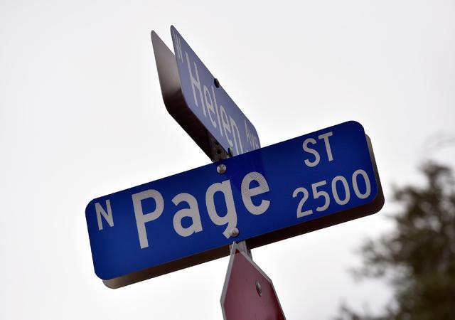 Page Street at Helen Avenue is seen Monday, April 25, 2016, in North Las Vegas. David Becker/Las Vegas Review-Journal Follow @davidjaybecker