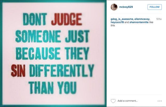 A post to the Instagram account of Jennifer McCain-Bray is shown Friday, April 29, 2016. The former Las Vegas Valley Water District purchasing analyst is accused of buying $4.5 million worth of in ...