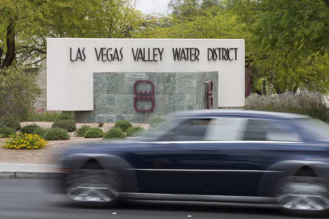 The Las Vegas Valley Water District headquarters at the intersection of South Valley View and West Charleston boulevards is seen on Thursday, April 28, 2016. (Erik Verduzco/Las Vegas Review-Journa ...
