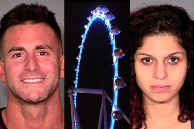 Philip Frank Panzica III, the High Roller at The Linq and Chloe Scordianos (Las Vegas police and Review-Journal photos)