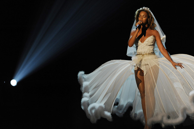 Beyonce performs at the 9th Annual BET Awards on Sunday, June 28, 2009, in Los Angeles. (AP Photo/Chris Pizzello)