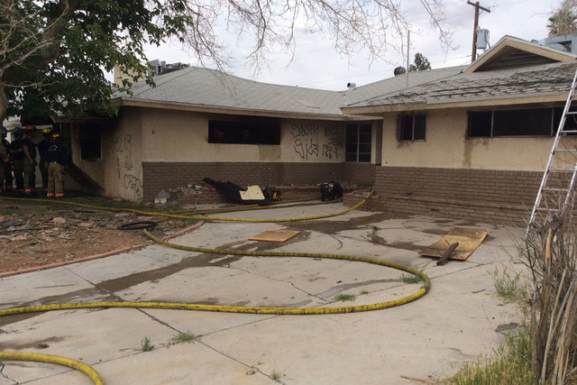 Firefighters responded to a house fire at 1000 N. 17th St. near North Bruce Street and East Washington Avenue on Wednesday, April 27, 2016. (Courtesy/LVFR)
