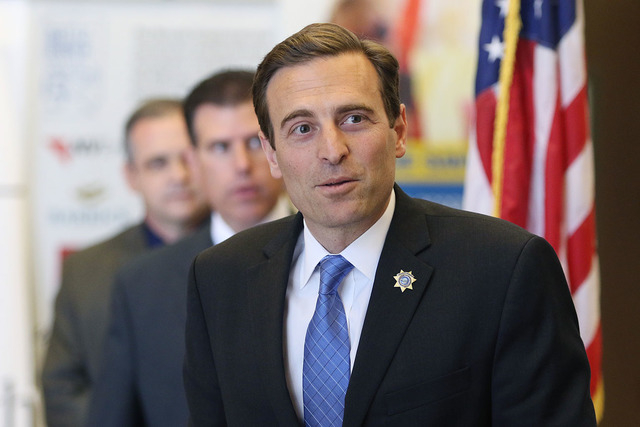 Nevada Attorney General Adam Paul Laxalt speaks during a news conference at Grant Sawyer Building Thursday, June 11, 2015, in Las Vegas. (Ronda Churchill/Las Vegas Review-Journal)