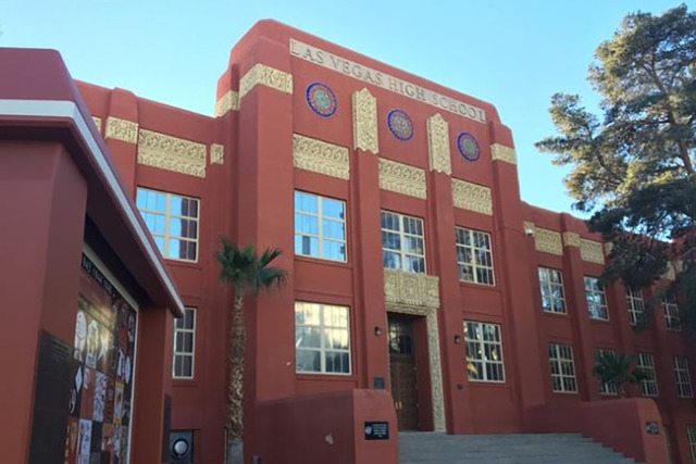 Las Vegas Academy (Bizuayehu Tesfaye/Las Vegas Review-Journal Follow @bizutesfaye)