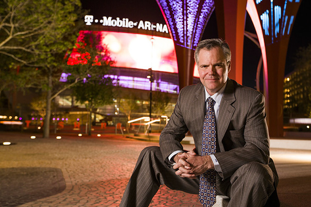 MGM Resorts Chairman and CEO Jim Murren sits for a photo at The Park near T-Mobile Arena on Wednesday, March 23, 2016. Jeff Scheid/Las Vegas Review-Journal Follow @jlscheid