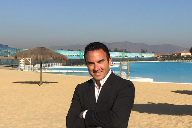 Uri Man, CEO of Crystal Lagoons US Corp., on one of the company's new beach developments, is working with Wynn Resorts Chairman and CEO Steve Wynn on the planned $1.5 billion Wynn Paradise Park. ( ...