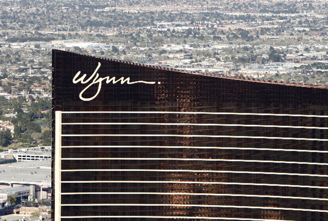 Wynn Las Vegas shown from the M Resort Blimp (Las Vegas Review-Journal)
