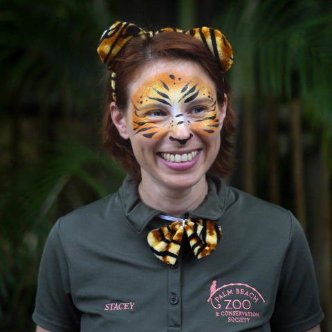 Stacey Konwiser smiles during the dedication of the new tiger habitat at the Palm Beach Zoo in West Palm Beach, Fla. in 2015. (Brianna Soukup/Palm Beach Post via AP)