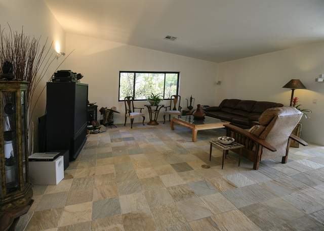 The Blue Diamond home's living room. (ELKE COTE/MILLIONS)