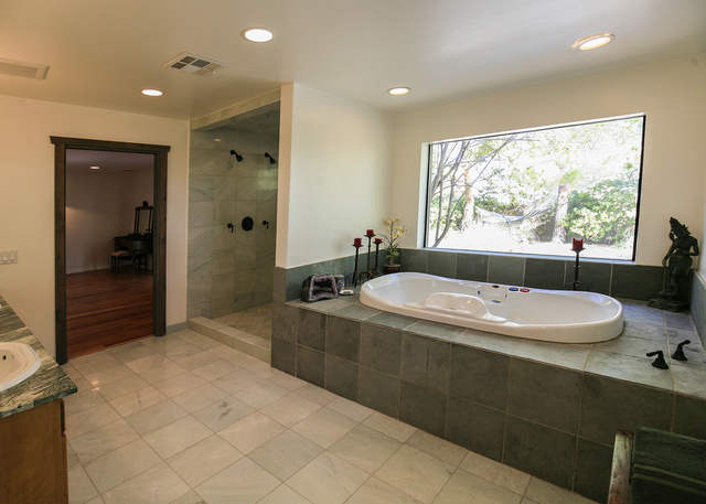 The house is a simple retreat. It's most luxurious part is the master bath with jetted tub and steam shower.  (ELKE COTE/MILLIONS)