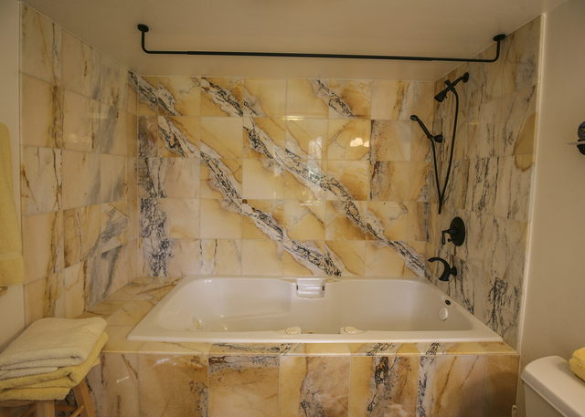 A secondary bath in the Blue Diamond house. (ELKE COTE/MILLIONS)