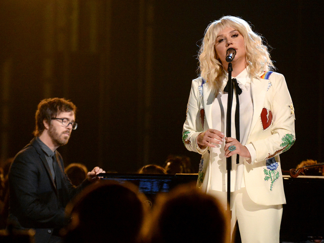 Kesha performs with Ben Folds during the 2016 Billboard Music Awards broadcast at T-Mobile Arena in Las Vegas on Sunday, May 22. (Photo by Kevin Winter/Getty Images via ABC)