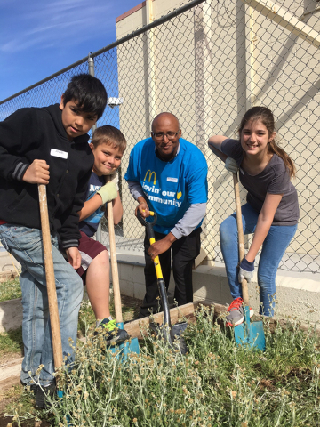 McDonald's Crews for Causes from the WBF organization volunteered at Hoggard Math/Science Magnet Elementary School March 30 in the school garden and green house. McDonald's WBF volunteers were ...